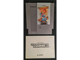 The Goonies 2 inkl. Manual/instruktionsbok - NES 8-bit SCN