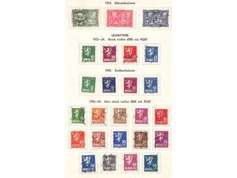 Norge stämplad samling 1856-1968 - Stockholm - Trots endast ett fåtal klassiska märken - en trevlig samling om ca 625 märken.Bl.a. några tjänste i prakt/lyxkvalitet. Rekommenderad försändelse är inkluderad i fraktkostnaden. - Stockholm