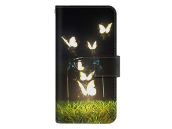 iPhone 7 Plånboksfodral Glowing Butterflies