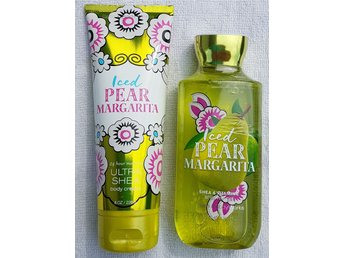 ICED PEAR MARGARITA Bath & Body Works Body Cream 226g & Shower Gel 295ml päron