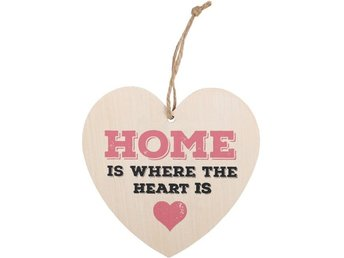 HOME IS WHERE THE HEART IS HANGING HEART SIGN