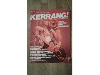 Kerrang #13 april-82. MSG. Led Zeppelin. Nazareth m.m
