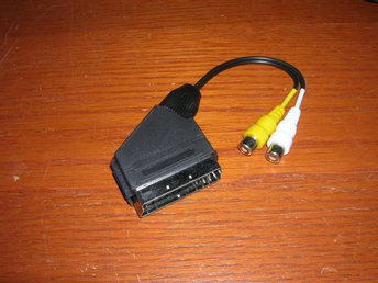 Scart adapter 0,2m  audio/video in scart hane- 2xRCA hona