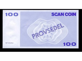 Provsedel 100 Tumba Bruk 140x72 mm SCAN COIN