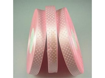 Dekoration Scrapbooking Satinband POLKA DOT prickigt PINK
