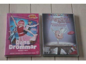 DVD-Filmer till barn 2 st - Skånes-fagerhult - DVD-Filmer 2 st 1. Dansdrömmar 2. Angelina Ballerina Katt och hund i hemmet! - Skånes-fagerhult