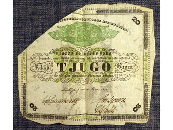ASSIGNATION TJUGO RIKSDALER BANCO 1850