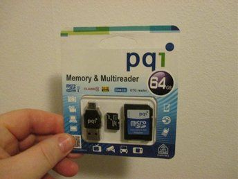 SafeHome PQI 64GB minne/univ.läsare klass 10