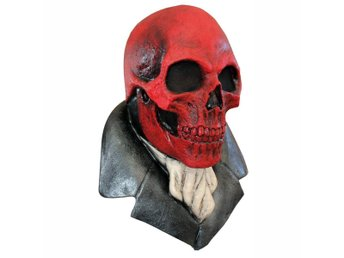 The Red Skull Skeleton Halloween Latex Mask Ghoulish Productions
