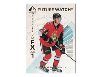 17-18 SP Authentic Spectrum FX Future Watch Bounty Alex Formenton