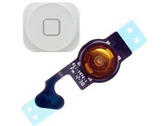 Iphone 5 / 5G Home button / Hemknapp med flexkabel .Vit - Göteborg - Iphone 5 / 5G Home button / Hemknapp med flexkabel .Vit - Göteborg
