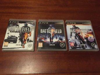 3 st PS3 SPEL- Battlefield: Bad Company 2 & Battlefield 3 & Battlefield 4 - Angered - 3 st PS3 SPEL- Battlefield: Bad Company 2 & Battlefield 3 & Battlefield 4 - Angered