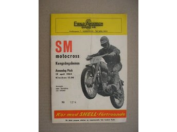 Program Motocross Kungsängsbanan Norrköping 19 april 1965