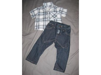 Skjorta jeans strl 74 - Upplands Väsby - Skjorta jeans strl 74 - Upplands Väsby