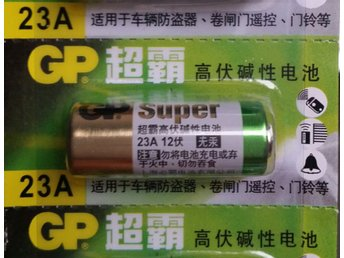 Batteri 23A 12V GP A23, V23GA, 8LR23 Super Alkaline Battery