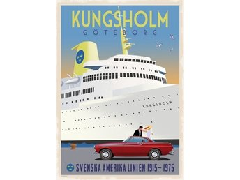 Poster: Volvo P1800 & M/S Kungsholm