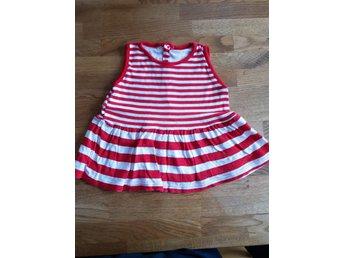 Rödvit randig ärmlös trikåklänning stl 80 (399922708) ᐈ