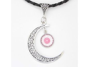 Rosa Måne Halsband / Pink Moon Necklace