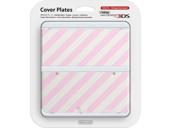 Nintendo New 3DS Cover Plates - Pink/White - Nintendo 3DS