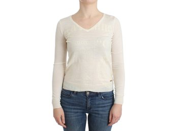 Galliano - White wool v-neck sweater
