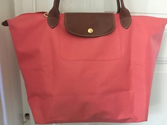 Genuine Longchamp 'Shopping' vaska shoulder bag Size M Le Pliage pink rare
