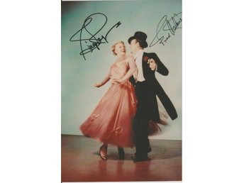 GINGER ROGERS & FRED ASTAIRE PREPRINT AUTOGRAF FOTO