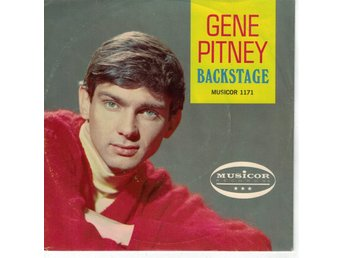 GENE PITNEY - Backstage/Blue Color SINGEL - MUSICOR MU 1171