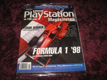 PLAYSTATION MAG NR 11 1998 MED DEMO CD (FORMULA 1 98) NY INPLASTAD
