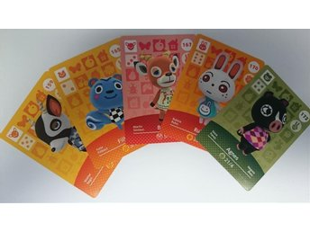 Animal Crossing Amiibo Cards series 2 Nr 159, 165, 167, 170, 172