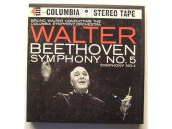 Rullband: BRUNO WALTER med BEETHOVEN SYMPHONY NO.4-5 COLUMBIA MQ369