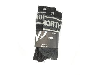 EXO WOOL Ski Socks JR North Blend svarta sockar strl 25-29. Skidstrumpor