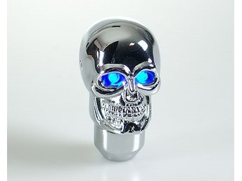 Växelspak Skull-Silver LED Blue-eye