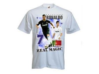 Tshirt med Ronaldo Real Madrid MEDIUM - Tryck fram & bak