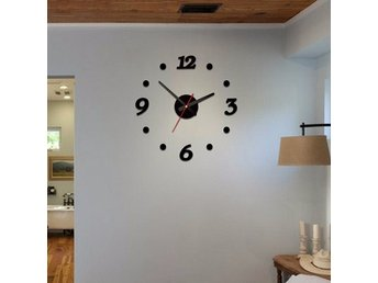Väggklocka DIY 3D Acrylic Wall Sticker Quartz Clock