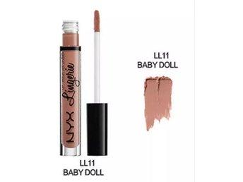 Baby doll MATT NYX Long lastning Lip Lingerie Liquid Lipstick Sitter 20 timmar - Motala - Baby doll MATT NYX Long lastning Lip Lingerie Liquid Lipstick Sitter 20 timmar - Motala