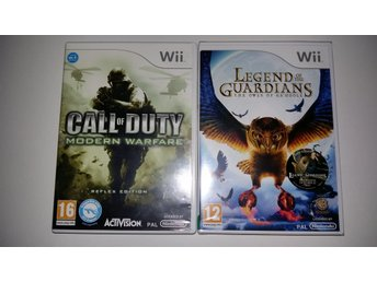 Två Wii Spel Call of Duty Modern / Legend of the Guardians the owls of ga´ holle