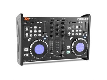 Power Dynamics PDX125 dubbel DJ-spelare-controller 2-kanalsmixer CD USB SD MP3