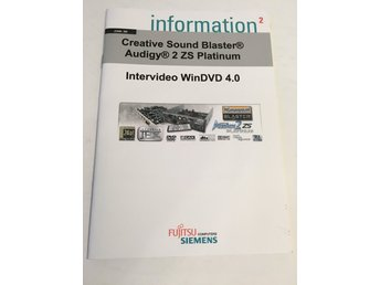 Häfte Information Intervideo WinDVD 4.0 / Creative Soundblaster Audigy 2 ZS Plat