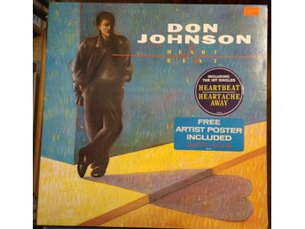 Don Johnson - Heartbeat med Postern, LP, affish medföljer