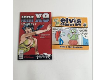 Serieböcker, Agent X9, Elvis greatest hits, Orange/Röd