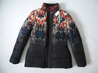 Ny Desigual reversible 2in1 vinter jacka boho hippie 38 M