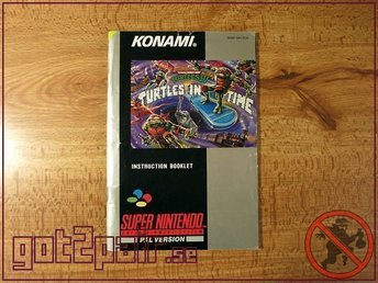 Turtles In Time MANUAL till Super Nintendo / Snes - BERGSALA SCN