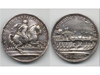 MEDALJ. 1744. GREAT BRITAIN. Prague captured by Charles.