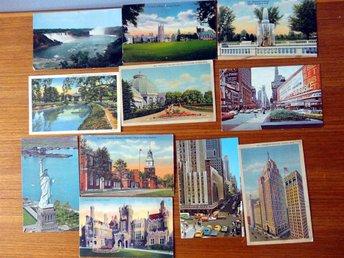11 amerikanska vykort från 60-70-talet - Södertälje - 11 amerikanska vykort från 60-70-talet - Södertälje