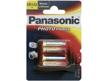 1x2 Panasonic Photo CR 123 A Lithium