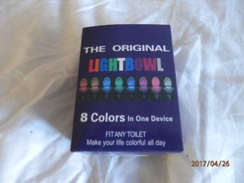 LIGHTBOWL FIT ANY TOILET 8 COLORS IN ONE DEVICE