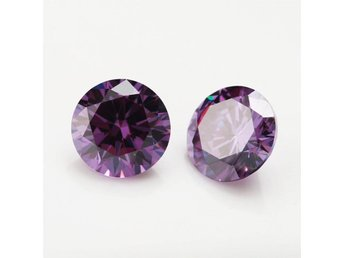 """DIAMANT""!!!!  Diamond Round Lavendel 6.00ct AAA  10mm"