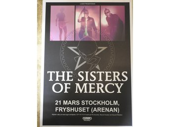 Poster The Sisters of Mercy Fryshuset i toppskick