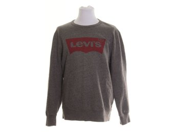 Levi Strauss & Co, Sweater, Strl: L, Grå/Röd
