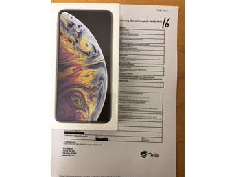 iPhone XS max 64 GB helt nytt. Silver